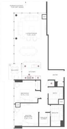 2 Bedrooms 2 Bathrooms Apartment for rent at The Hudson in Chicago, IL