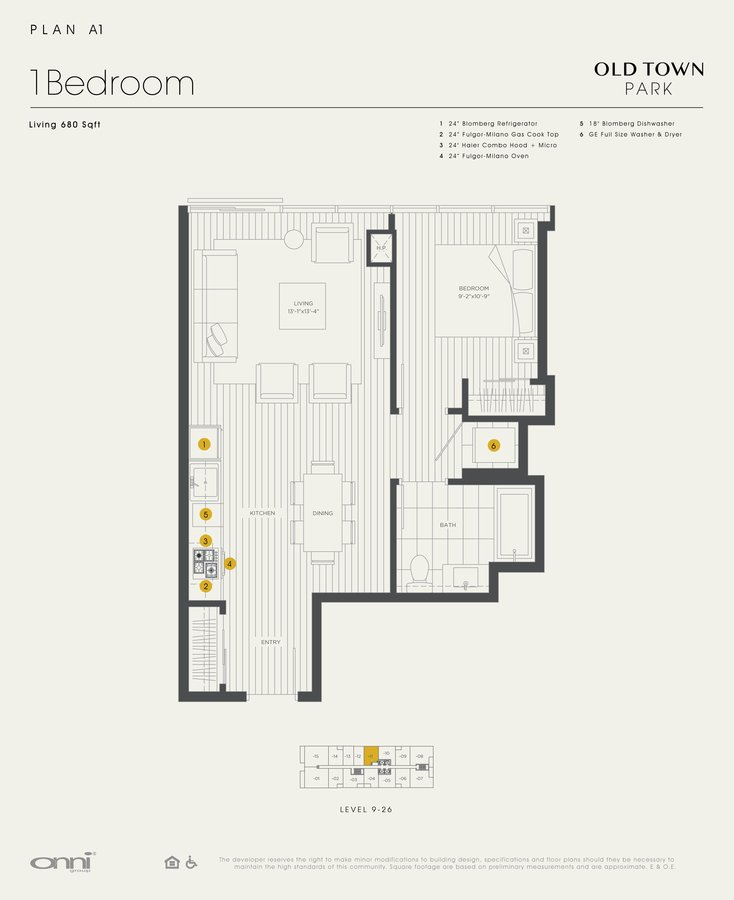 1 Bedroom 1 Bathroom Apartment for rent at Old Town Park in Chicago, IL