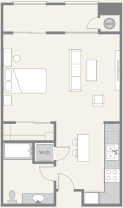 Studio 1 Bathroom Apartment for rent at Pacific Ridge in San Diego, CA