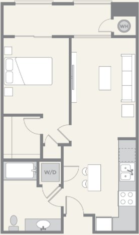 1 Bedroom 1 Bathroom Apartment for rent at Pacific Ridge in San Diego, CA