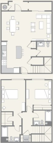 2 Bedrooms 3 Bathrooms Apartment for rent at Pacific Ridge in San Diego, CA