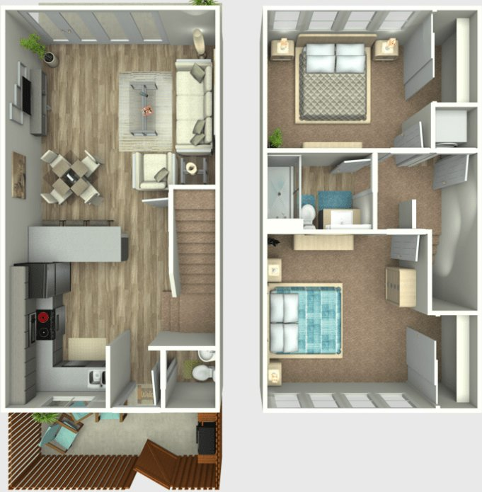 2 Bedrooms 2 Bathrooms Apartment for rent at Loma 21 in San Diego, CA