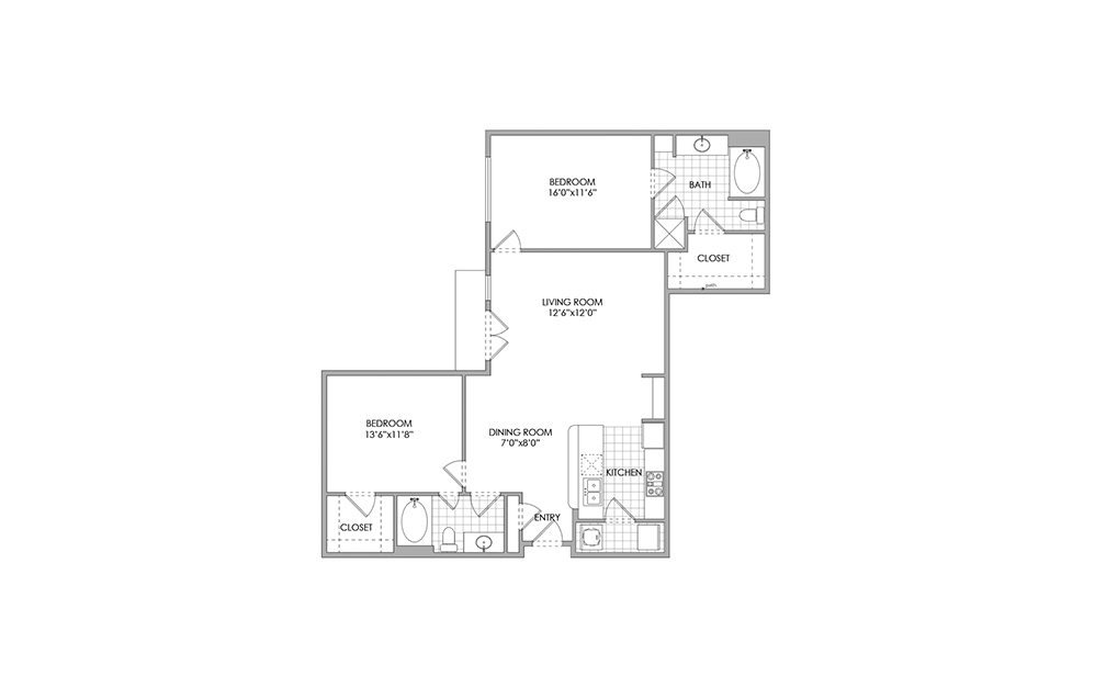 2 Bedrooms 2 Bathrooms Apartment for rent at Lennox West Village in Dallas, TX