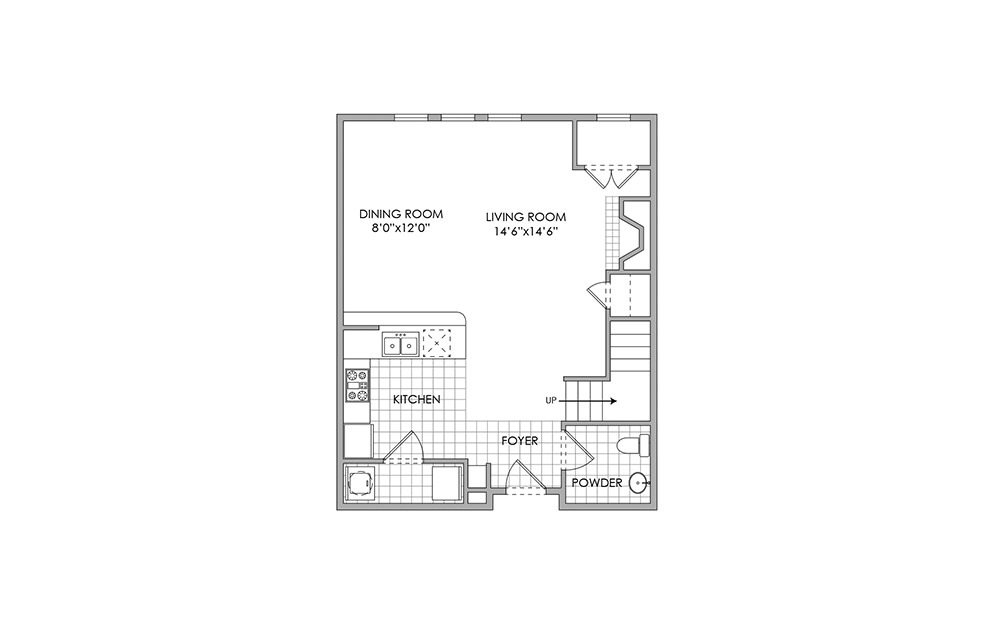 1 Bedroom 2 Bathrooms Apartment for rent at Lennox West Village in Dallas, TX
