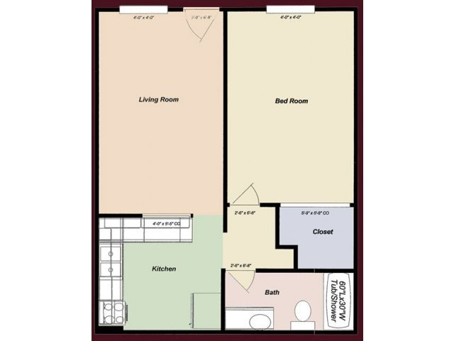 1 Bedroom 1 Bathroom Apartment for rent at College Town Tempe in Tempe, AZ