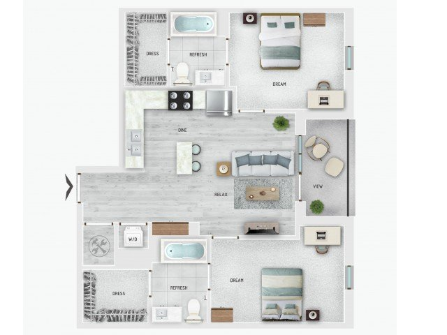 2 Bedrooms 2 Bathrooms Apartment for rent at Skygarden in Charleston, SC
