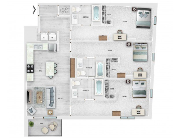 3 Bedrooms 3 Bathrooms Apartment for rent at Skygarden in Charleston, SC