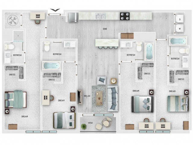 4 Bedrooms 4+ Bathrooms Apartment for rent at Skygarden in Charleston, SC