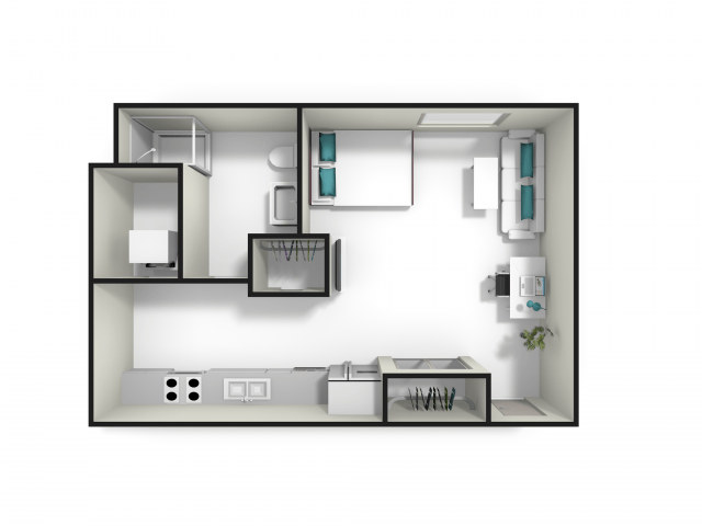 Studio 1 Bathroom Apartment for rent at Fuse in West Lafayette, IN