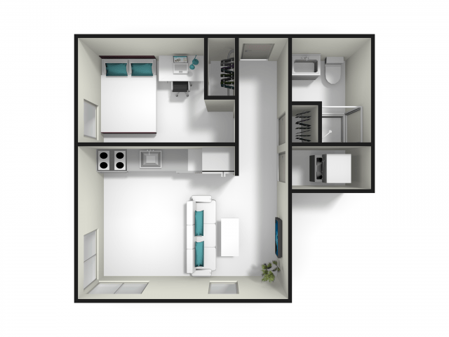 1 Bedroom 1 Bathroom Apartment for rent at Fuse in West Lafayette, IN