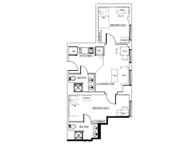 2 Bedrooms 2 Bathrooms Apartment for rent at Towers On State in Madison, WI