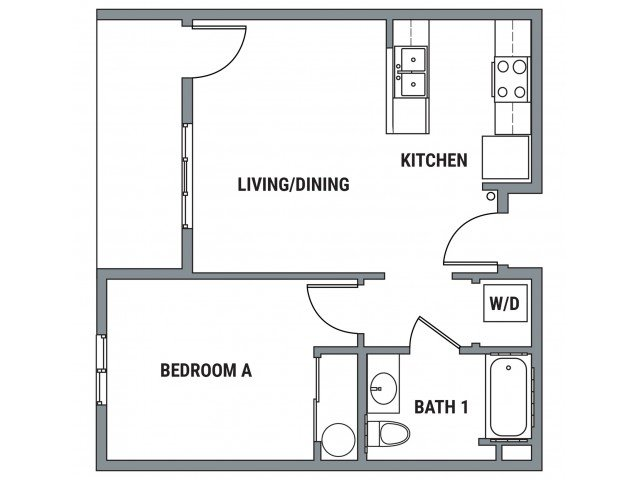 1 Bedroom 1 Bathroom Apartment for rent at Element- The Pearl in Eugene, OR