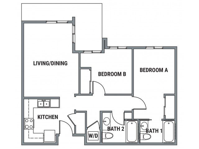 2 Bedrooms 2 Bathrooms Apartment for rent at Element- The Pearl in Eugene, OR
