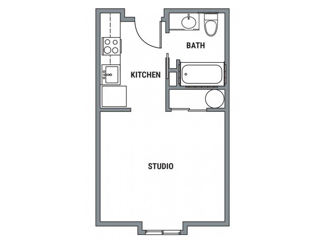 Studio 1 Bathroom Apartment for rent at Element- The Pearl in Eugene, OR