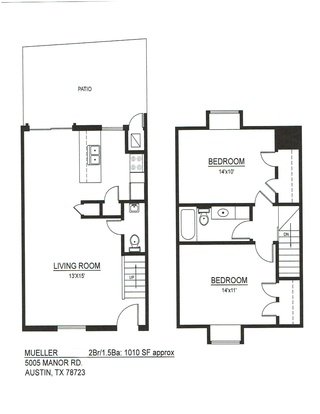 2 Bedrooms 2 Bathrooms Apartment for rent at Mueller Square in Austin, TX