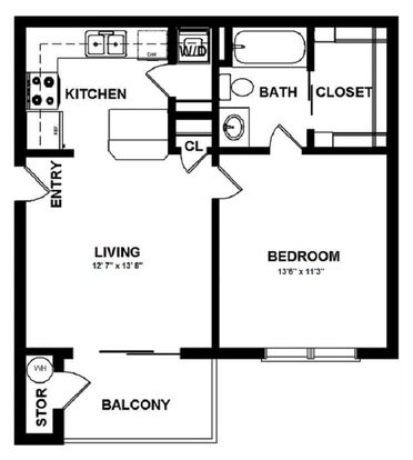 1 Bedroom 1 Bathroom Apartment for rent at Mansions In The Park in Baton Rouge, LA