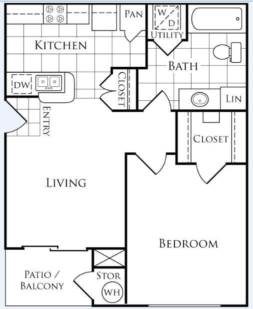 1 Bedroom 1 Bathroom Apartment for rent at Lakeside Villas in Baton Rouge, LA