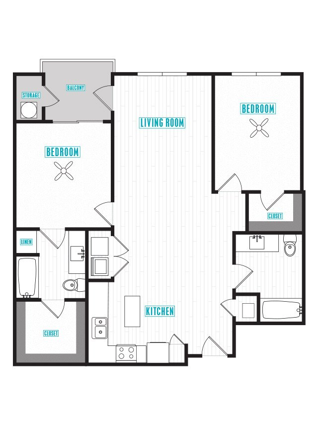 2 Bedrooms 2 Bathrooms Apartment for rent at Capital Place in Phoenix, AZ