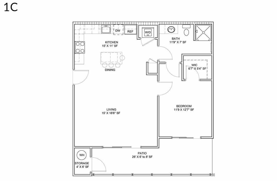 1 Bedroom 1 Bathroom Apartment for rent at District Lofts in Gilbert, AZ
