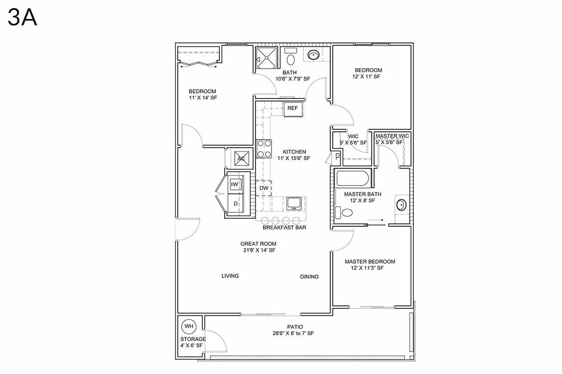 3 Bedrooms 2 Bathrooms Apartment for rent at District Lofts in Gilbert, AZ