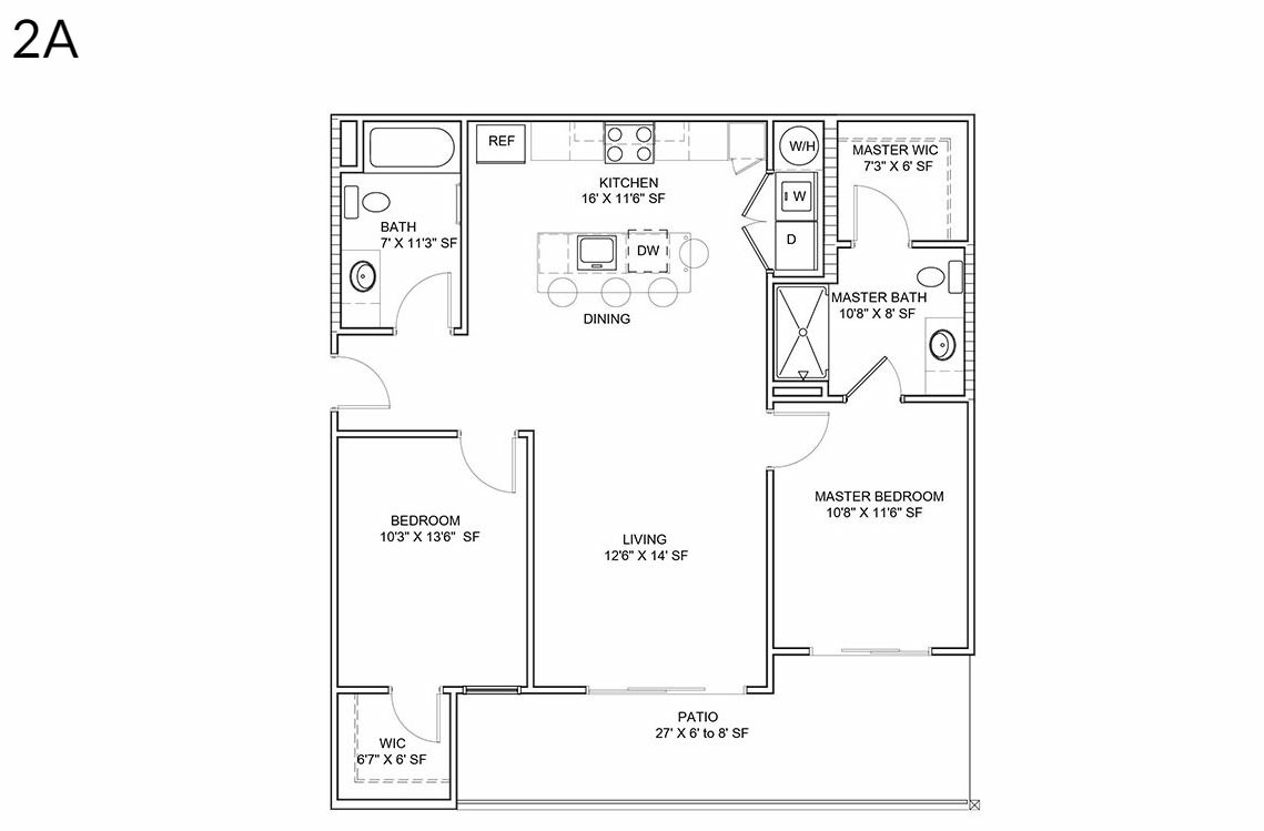 2 Bedrooms 2 Bathrooms Apartment for rent at District Lofts in Gilbert, AZ