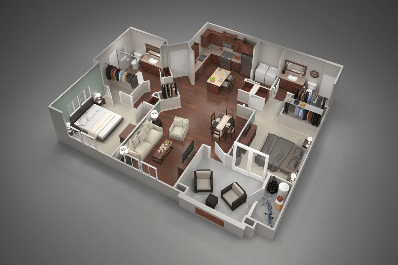2 Bedrooms 2 Bathrooms Apartment for rent at San Capella in Tempe, AZ