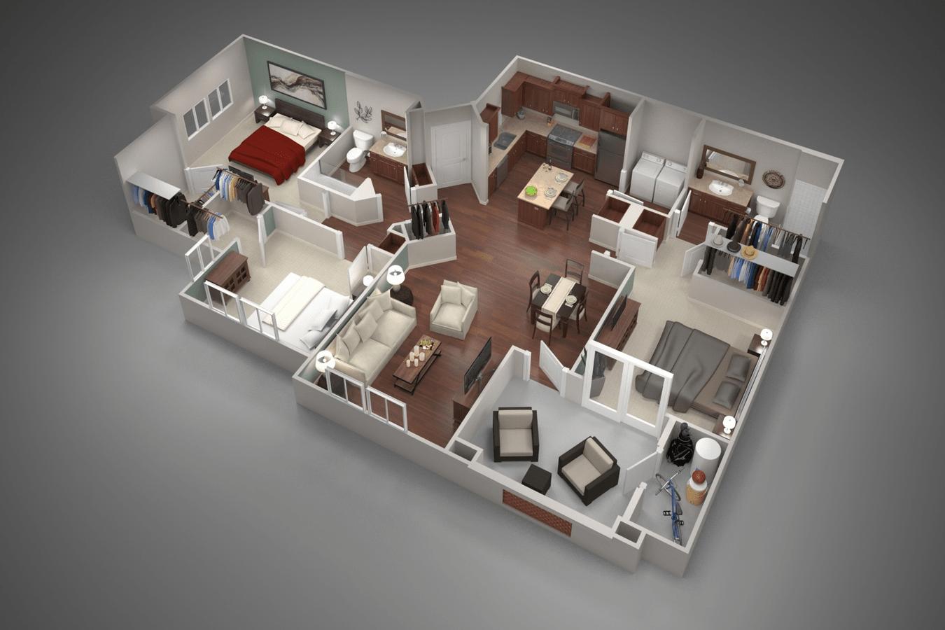 3 Bedrooms 2 Bathrooms Apartment for rent at San Capella in Tempe, AZ