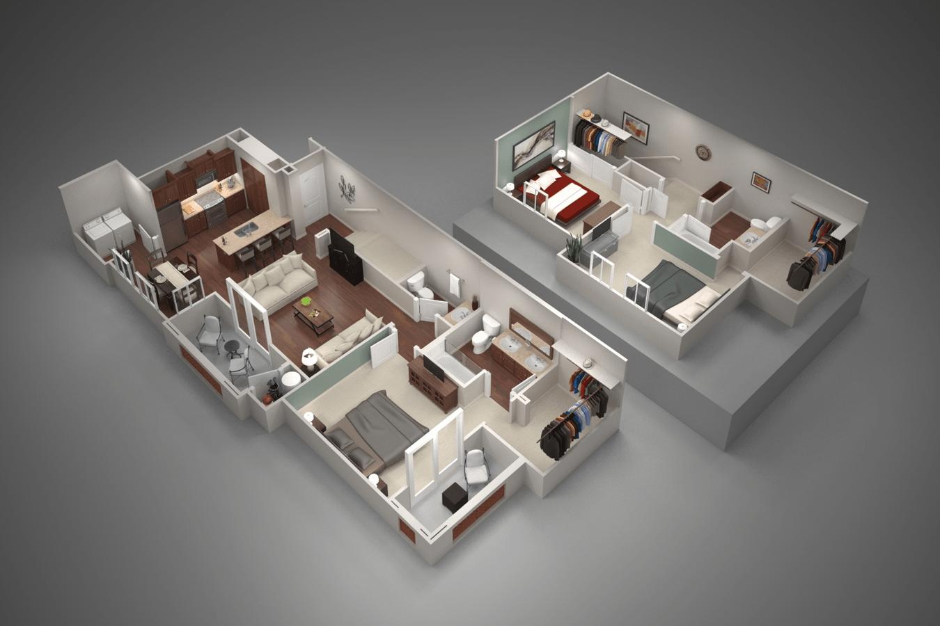 3 Bedrooms 3 Bathrooms Apartment for rent at San Capella in Tempe, AZ