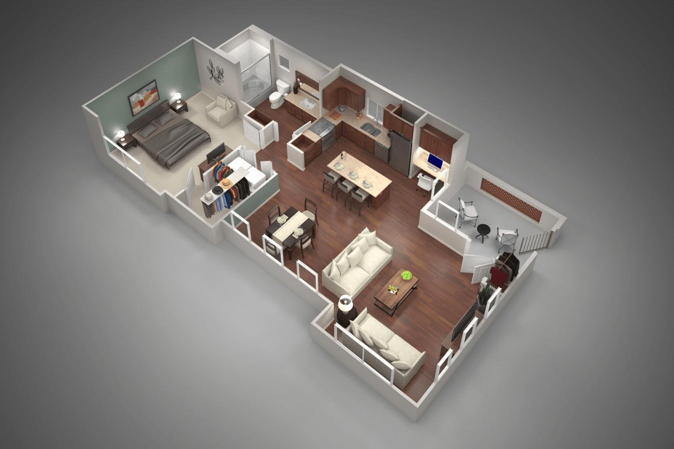 1 Bedroom 1 Bathroom Apartment for rent at San Capella in Tempe, AZ