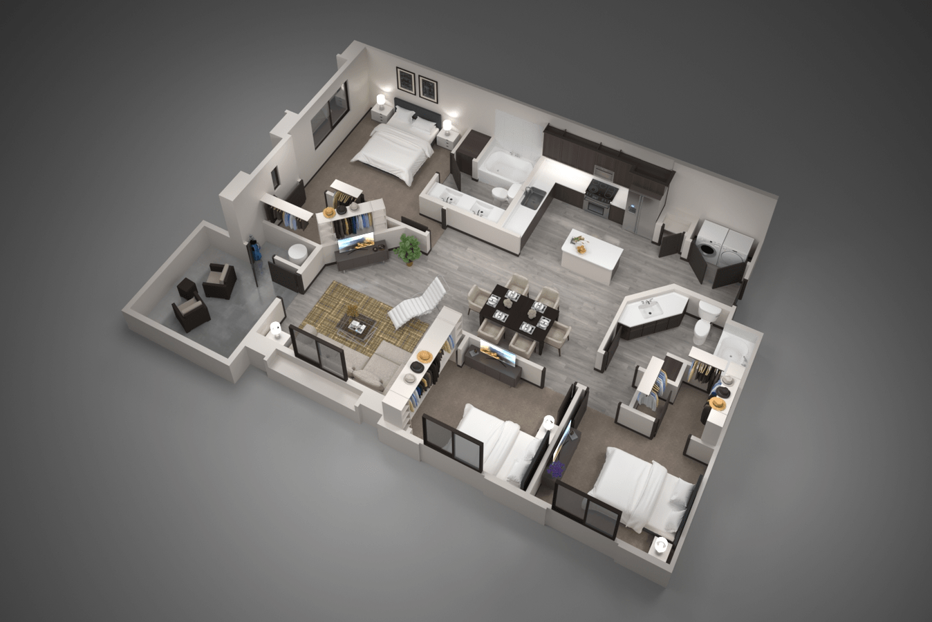 3 Bedrooms 2 Bathrooms Apartment for rent at Aviva in Mesa, AZ