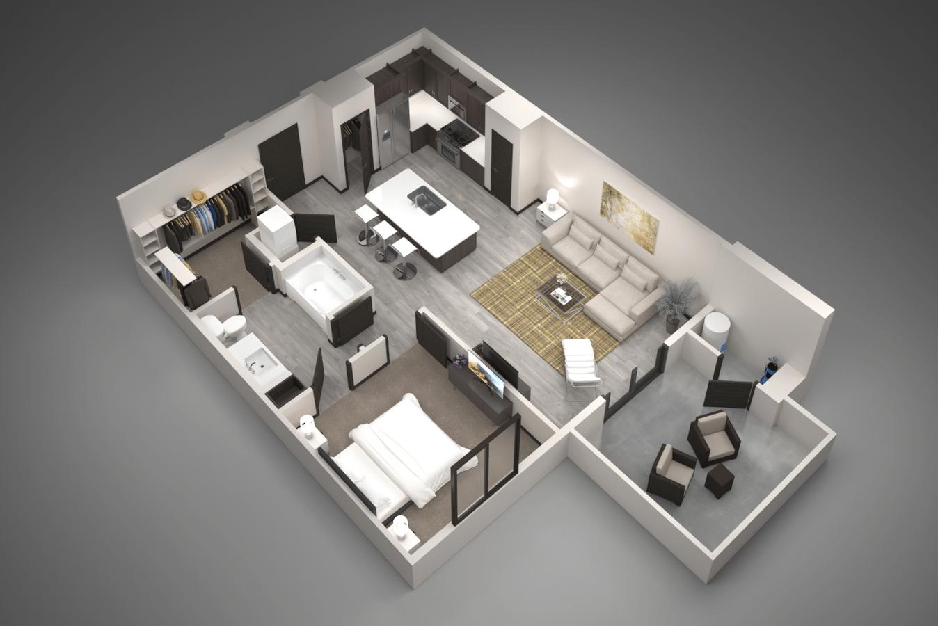1 Bedroom 1 Bathroom Apartment for rent at Aviva in Mesa, AZ