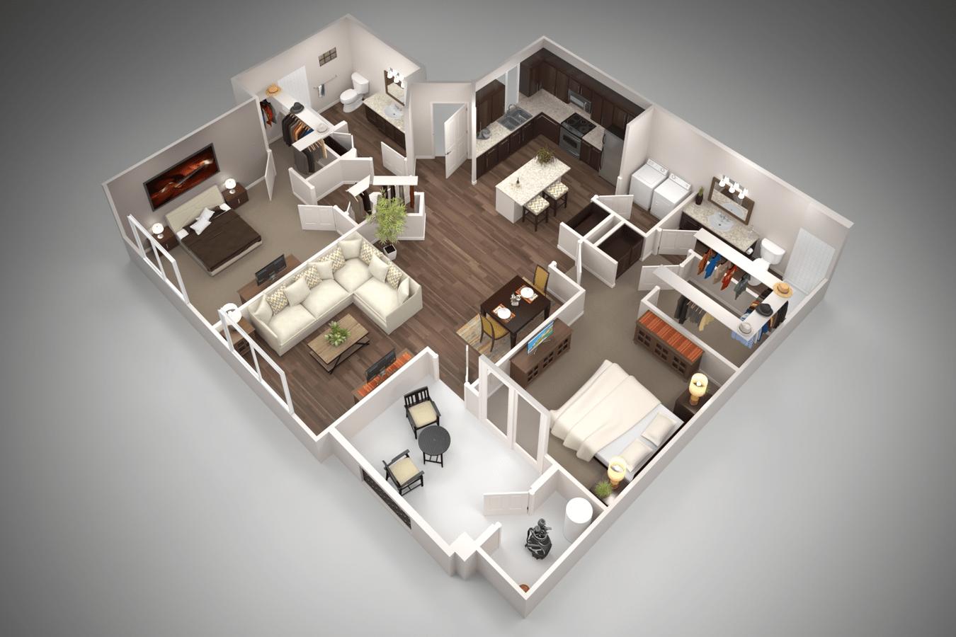 2 Bedrooms 2 Bathrooms Apartment for rent at San Piedra in Mesa, AZ