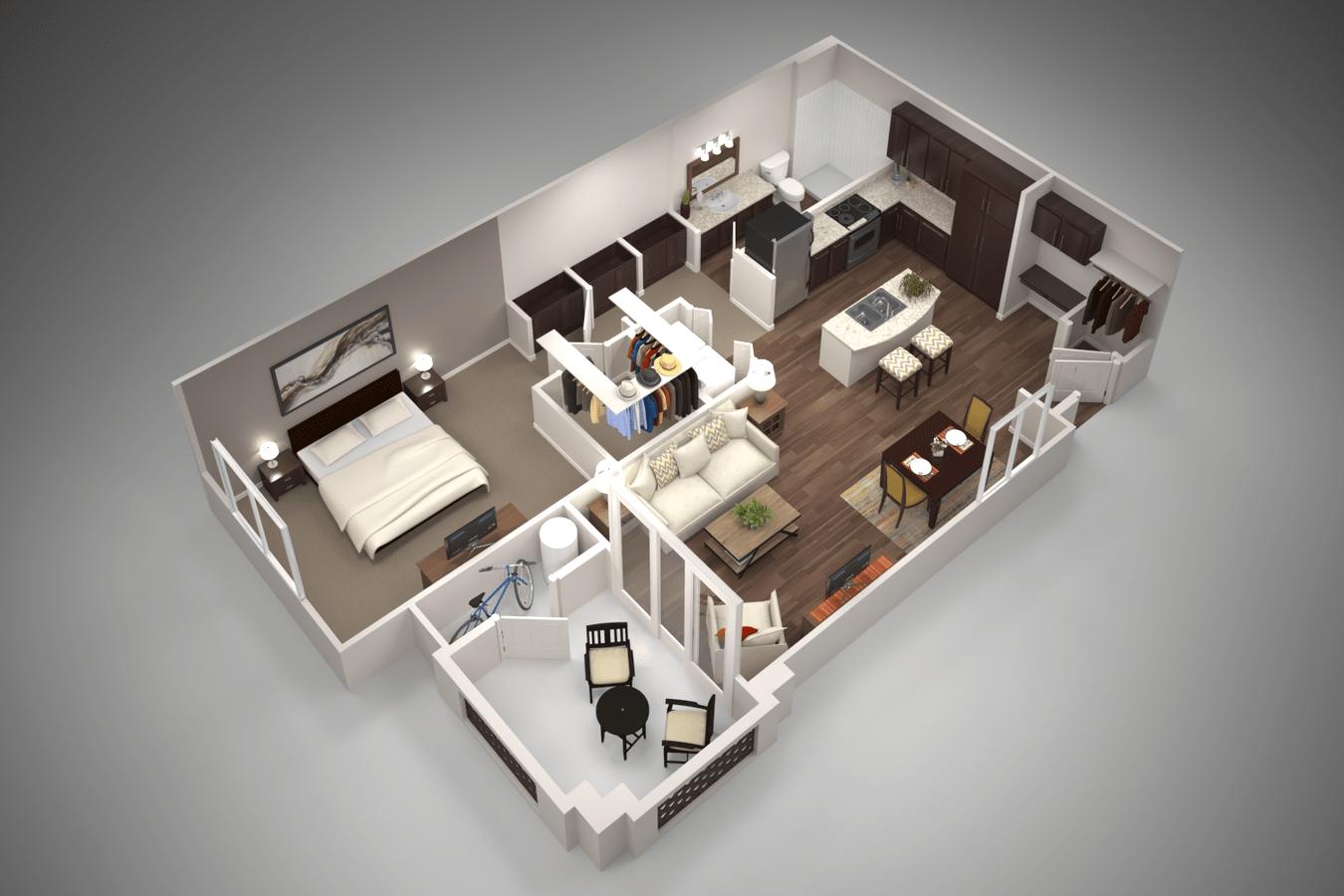 1 Bedroom 1 Bathroom Apartment for rent at San Piedra in Mesa, AZ