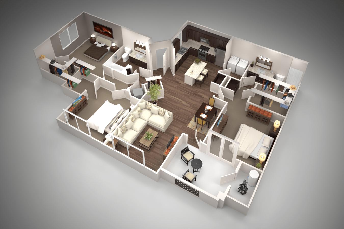 3 Bedrooms 2 Bathrooms Apartment for rent at San Piedra in Mesa, AZ