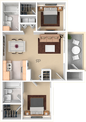 2 Bedrooms 2 Bathrooms Apartment for rent at Woodcrest Apartments in Flagstaff, AZ