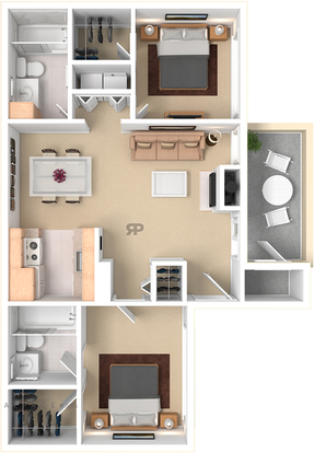 3 Bedrooms 2 Bathrooms Apartment for rent at Woodcrest Apartments in Flagstaff, AZ