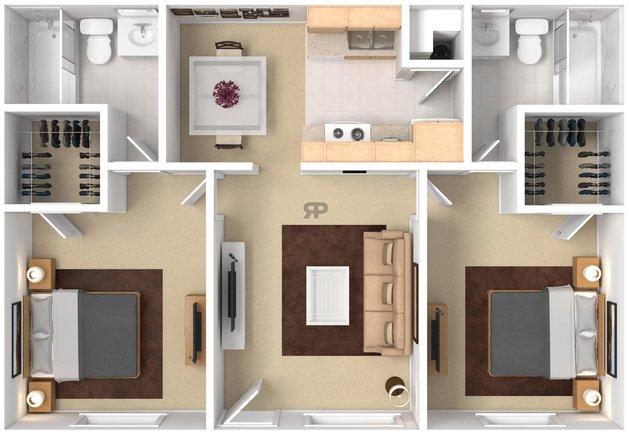 2 Bedrooms 2 Bathrooms Apartment for rent at Ponderosa Park in Flagstaff, AZ