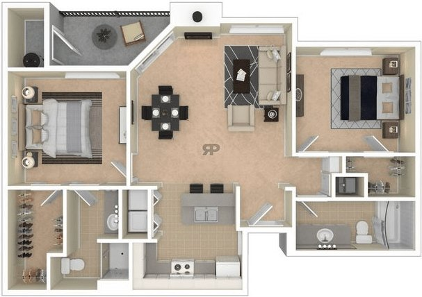 2 Bedrooms 2 Bathrooms Apartment for rent at Canyon Springs in Flagstaff, AZ