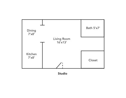 Studio 1 Bathroom Apartment for rent at Himount Gardens Apartments in Milwaukee, WI
