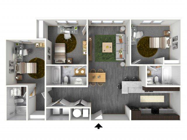3 Bedrooms 3 Bathrooms Apartment for rent at Bellamy At Dahlonega in Dahlonega, GA