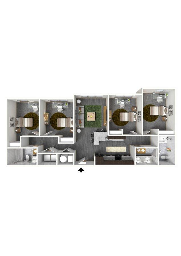 4 Bedrooms 2 Bathrooms Apartment for rent at Bellamy At Dahlonega in Dahlonega, GA