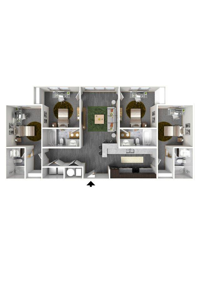 4 Bedrooms 4+ Bathrooms Apartment for rent at Bellamy At Dahlonega in Dahlonega, GA