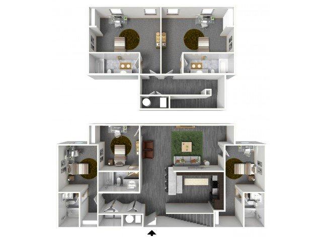 5 Bedrooms 4+ Bathrooms Apartment for rent at Bellamy At Dahlonega in Dahlonega, GA