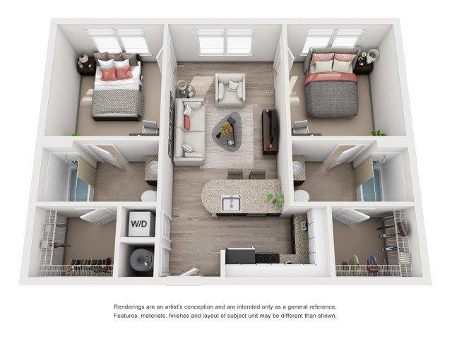 2 Bedrooms 2 Bathrooms Apartment for rent at 200 Edgewood in Atlanta, GA