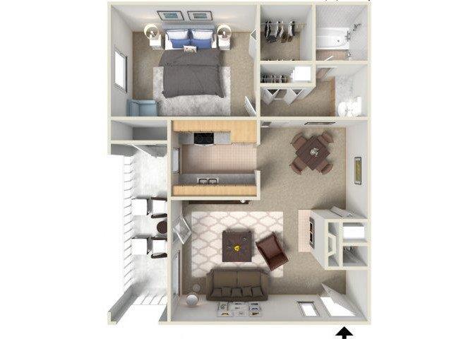 1 Bedroom 1 Bathroom Apartment for rent at Sunrise Ridge in Tucson, AZ