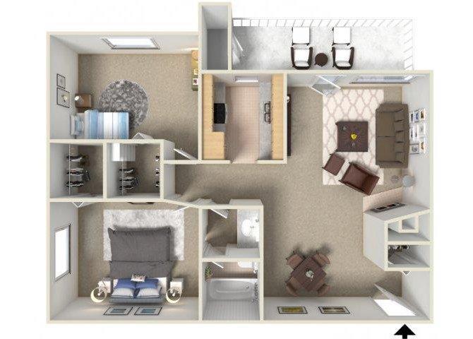 2 Bedrooms 1 Bathroom Apartment for rent at Sunrise Ridge in Tucson, AZ