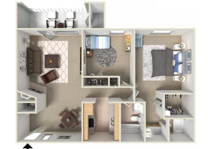 2 Bedrooms 2 Bathrooms Apartment for rent at Sunrise Ridge in Tucson, AZ