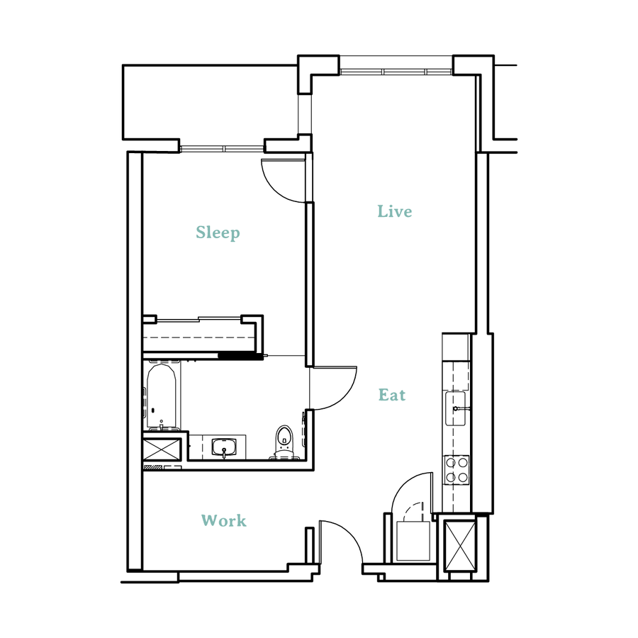 1 Bedroom 1 Bathroom Apartment for rent at Higby Apartments in Berkeley, CA