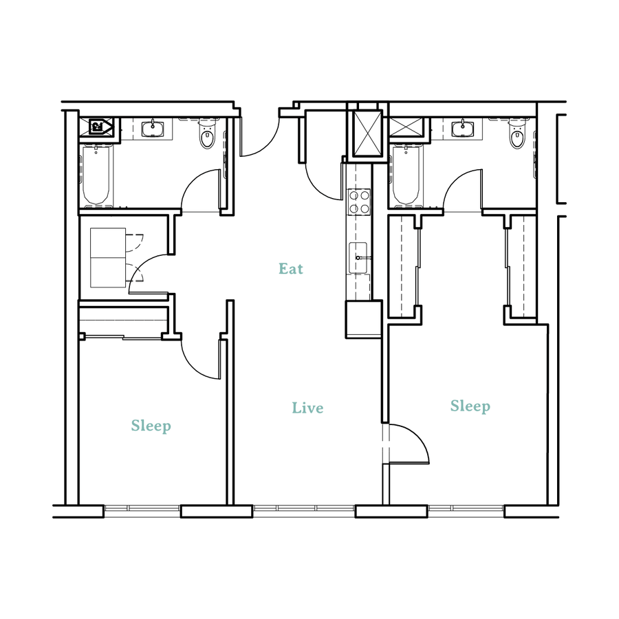 2 Bedrooms 2 Bathrooms Apartment for rent at Higby Apartments in Berkeley, CA