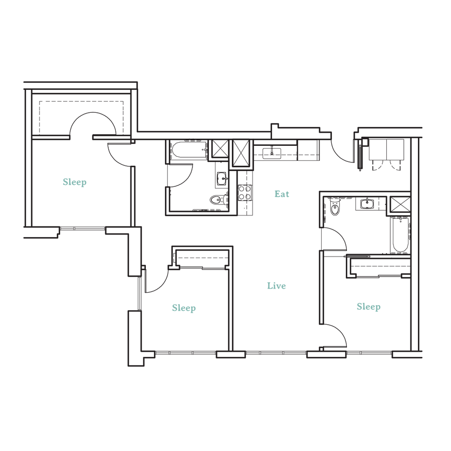 3 Bedrooms 2 Bathrooms Apartment for rent at Higby Apartments in Berkeley, CA